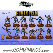 Humans - Team of 12 Players - Fanath Art