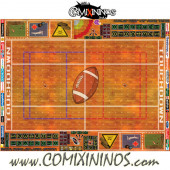 29 mm Indoor Plastic Gaming Mat with BB7 and Crossed Dugouts - Comixininos