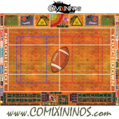 29 mm Indoor Plastic Gaming Mat with BB7 and Parallel Dugouts - Comixininos