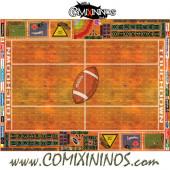 29 mm Indoor Plastic Gaming Mat with Crossed Dugouts - Comixininos
