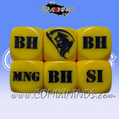 1d6 Meiko Injury Dice - Yellow