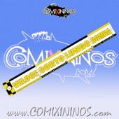 29 mm Range Ruler 1 mm Thick - Yellow and Black - Italian