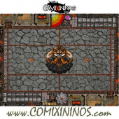 29 mm Evil Dwarf Plastic Gaming Mat with Crossed Dugouts - Comixininos