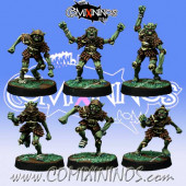 Evil Dwarves - Set of 6 Hobgoblins - Willy Miniatures