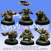 Evil Dwarves - Set of 6 Evil Dwarf Blockers - Willy Miniatures
