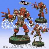 Evil - Mutated Beastman with Mech Claw - Meiko Miniatures