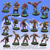 Evil - Team of 16 Players without Minotaur - Meiko Miniatures and Mano di Porco
