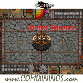 34 mm Evil Dwarf Plastic Gaming Mat with Crossed Dugouts - Comixininos