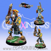Tomb Kings - Egyptian Skeleton Chainsaw Star Player - Willy Miniatures
