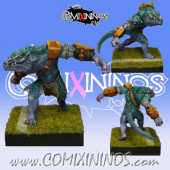 Lizardmen - X-Saur Lizaurus - Maow Miniatures