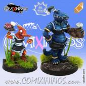 Lizardmen - Set of 2 Lizardmen Bloodweiser Girls - Meiko Miniatures