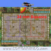 34 mm Lustria Plastic Gaming Mat with BB7 and Crossed Dugouts - Comixininos