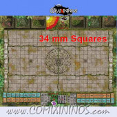 34 mm Lustria Plastic Gaming Mat with Parallel Dugouts - Comixininos