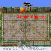 34 mm Lustria Plastic Gaming Mat with BB7 and Parallel Dugouts - Comixininos
