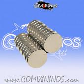 Set of 50 Mini-Magnets 2 mm x 1 mm