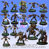 Evil Pact - Complete Team of 16 Players with 3 Big Guys - Meiko Miniatures