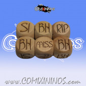 1d6 Meiko Elvish Injury Dice Standard Size 16 mm - Wooden