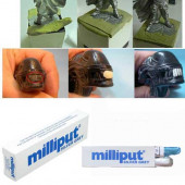 Milliput Putty - Fine Silver Grey (Blue Box)