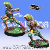 Wood Elves / Elves - Set of 2 Wardancers - Meiko Miniatures