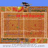 34 mm Mud Plastic Gaming Mat with BB7 and Crossed Dugouts - Comixininos
