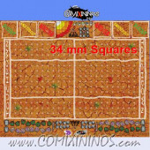34 mm Mud Plastic Gaming Mat with Parallel Dugouts - Comixininos