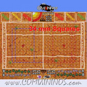 34 mm Mud Plastic Gaming Mat with BB7 and Parallel Dugouts - Comixininos