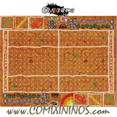 29 mm Mud Plastic Gaming Mat with Crossed Dugouts - Comixininos