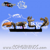 Set of 4 Ratmen Mutations - Meiko Miniatures