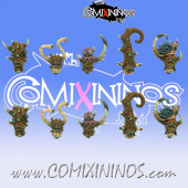 Plague Champion Heads Set of 10 - MaxMini