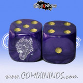 Set of 2d6 Werewolf Dice - Meiko