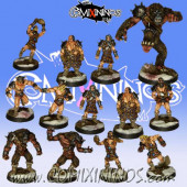 Norses - Team of 13 Players with Snow Troll - Uscarl Miniatures
