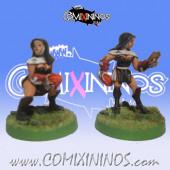 Amazons / Humans - Nun Throwers Set of 2 - Shadowforge