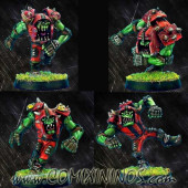 Orcs - Set of 4 Metal Orc Blitzers - Necrom Studio