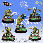 Ogres - Set of 5 Tiny Players - Meiko Miniatures