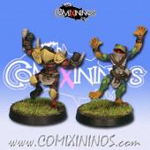 Frogmen - Set of 2 Horned Frogs Blitzer and Catcher Pack 2 - Rolljordan