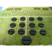 Set of Twelve 20 mm Mini-Bases for Small Players