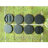 Set of Seven 30 mm Bases for Strength 4 Players
