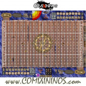 29 mm Pirate Plastic Gaming Mat with Crossed Dugouts - Comixininos