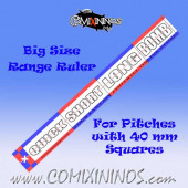 Big Size Range Ruler 1 mm Thick for Pitches with 40 mm Squares - English