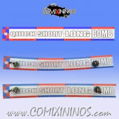 34 mm Range Ruler 1 mm Thick - Red and Blue - English