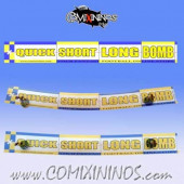 34 mm Range Ruler 1 mm Thick - Yellow and Blue - English