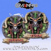 Set of 2 Delux Ratmen Reroll and Turn Counters - Chaos Factory