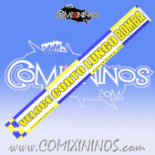 29 mm Range Ruler 1 mm Thick - Yellow and Blue - Italian