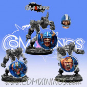 Set A of 4 Ogre Heads - Meiko