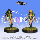 Wood Elves - Set B of 2 Silvania Catchers or Linewomen - Rolljordan