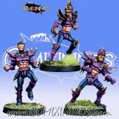 Dark Elves - Set B of 3 Dark Elf Linemen - Meiko Miniatures