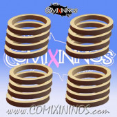Skill Markers - Set of 16 Grey Rubber Deluxe Rings - Comixininos