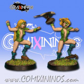 Wood Elves - Set of 2 Silvania Throwers - Rolljordan