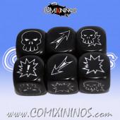 Set of 3 Meiko Block Dice - Black