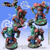 Orcs - Set of 4 Black Orcs - Meiko Miniatures